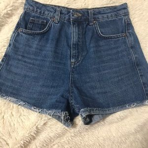 Top shop denim shorts, girlfriend